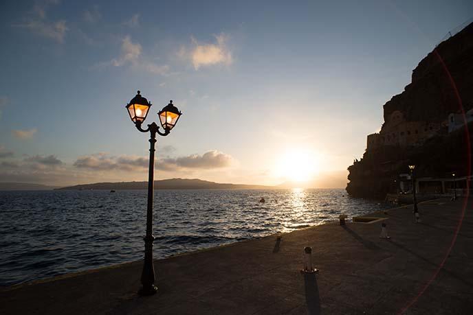 lanterns beach fira santorini