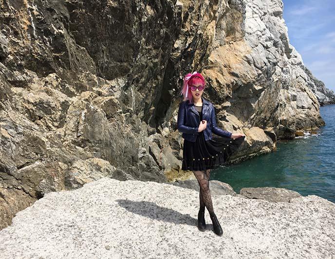greece famous beach fashion shoot