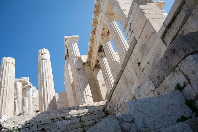 acropolis parthenon pillars