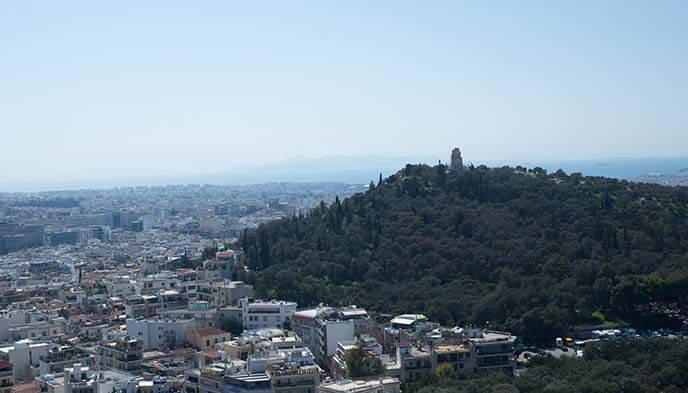 athens hills view scenery