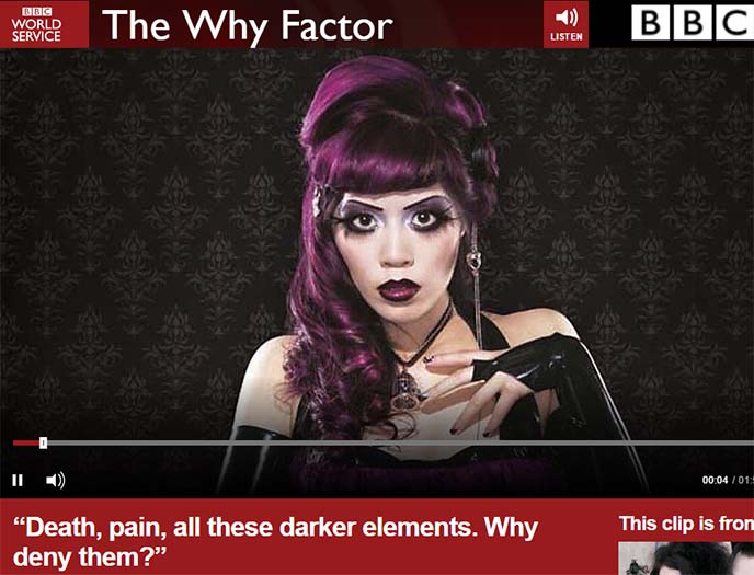bbc radio the why factor goths gothic black friday