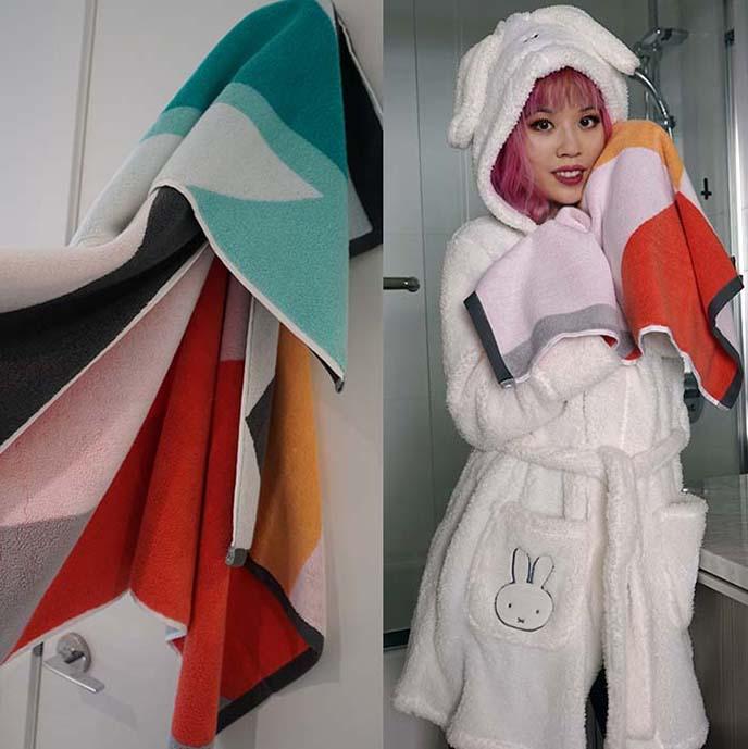 designer colorful towels, sundayminx