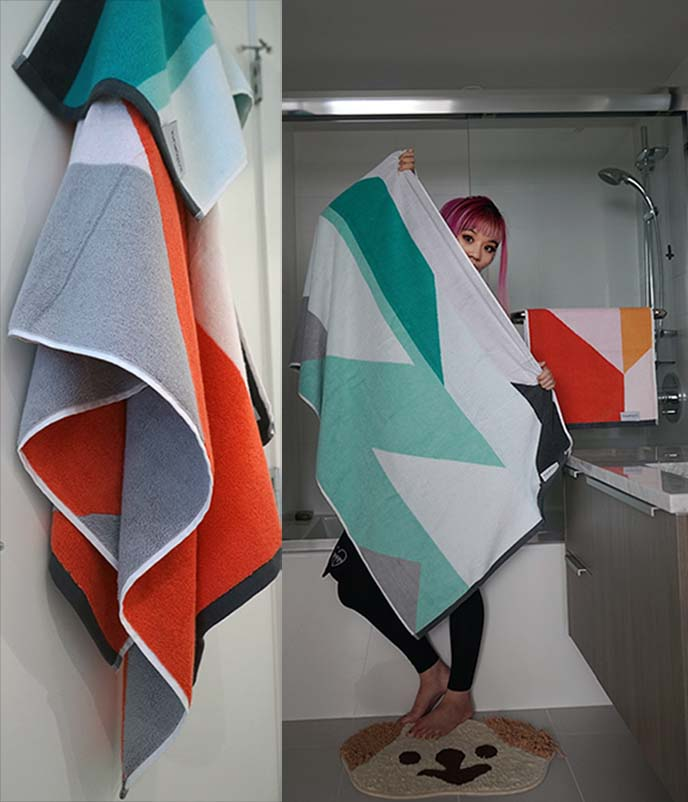 mid century modern towels