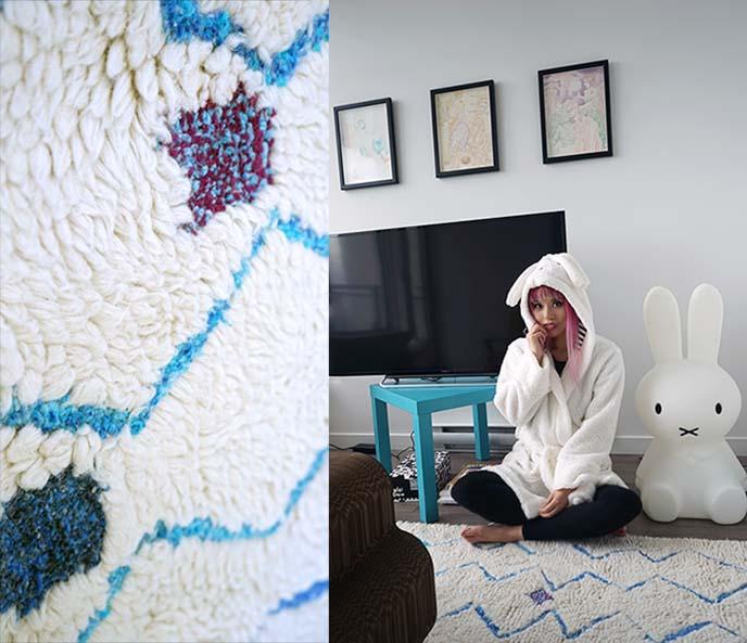 moroccan zigzag shag rug