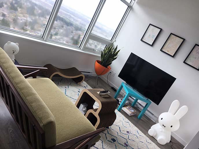 mid century modern living room decoration