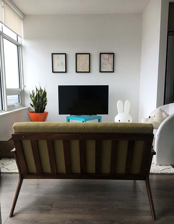 My Fashion Blogger Apartment Tour Mid Century Modern Minimalist Home Decor