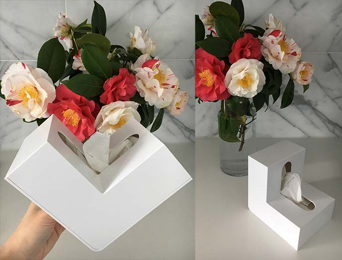 designer Folio L-Shaped Tissue Box