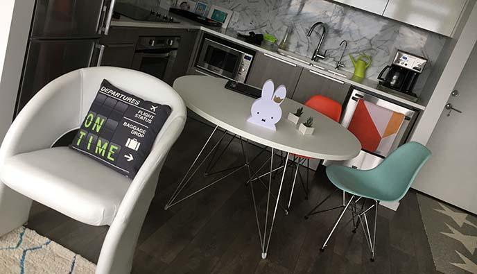 mid century modern kitchen dining