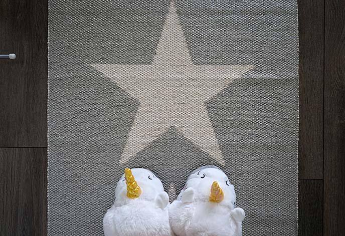 unicorn slippers, scandaffaren home decor
