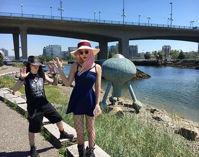 time top ufo sculpture vancouver