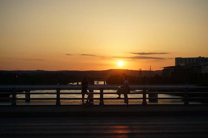 sunset congress bridge austin