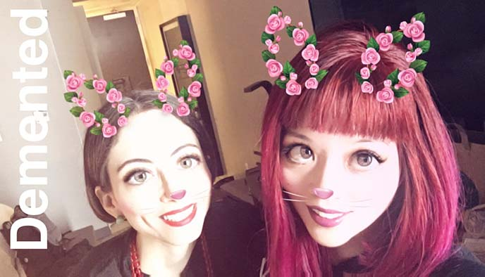 bunny ears snapchat filter