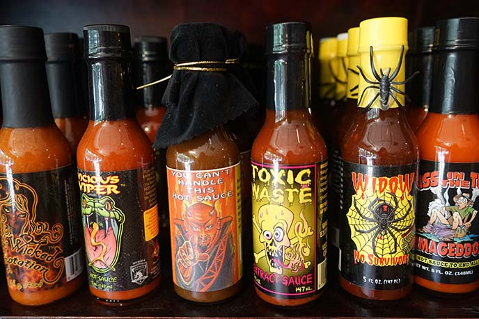 goth satanic death hot sauces