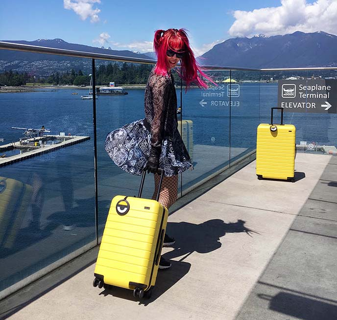 minions yellow suitcase carry on