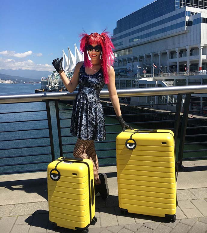minions suitcases away travel