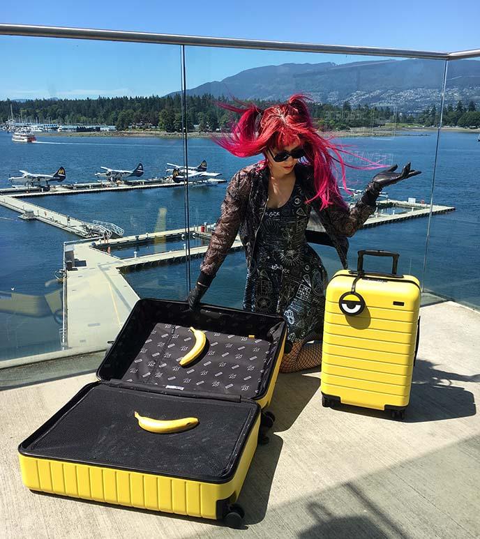 away travel smart tech luggage