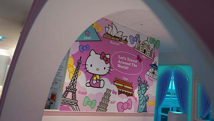 hello kitty themed airport