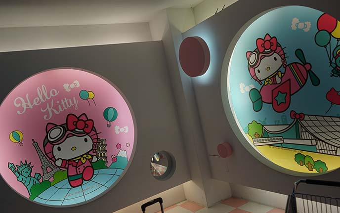 hello kitty airport gate, nursing room