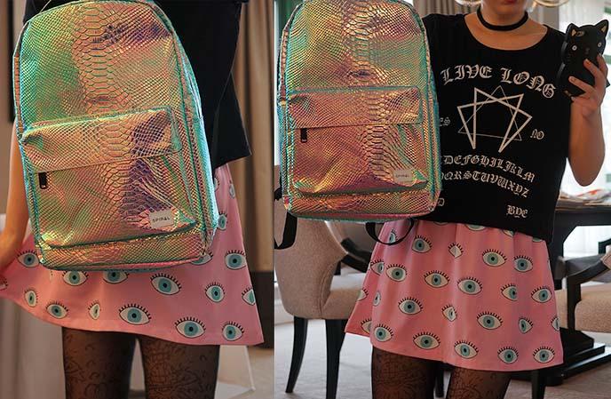 eyeballs larme kei pastel skirt