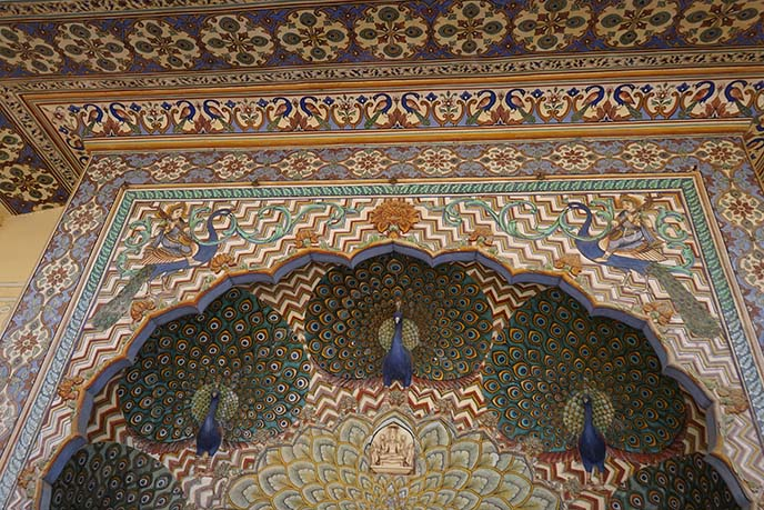 jaipur peacocks doorway arch