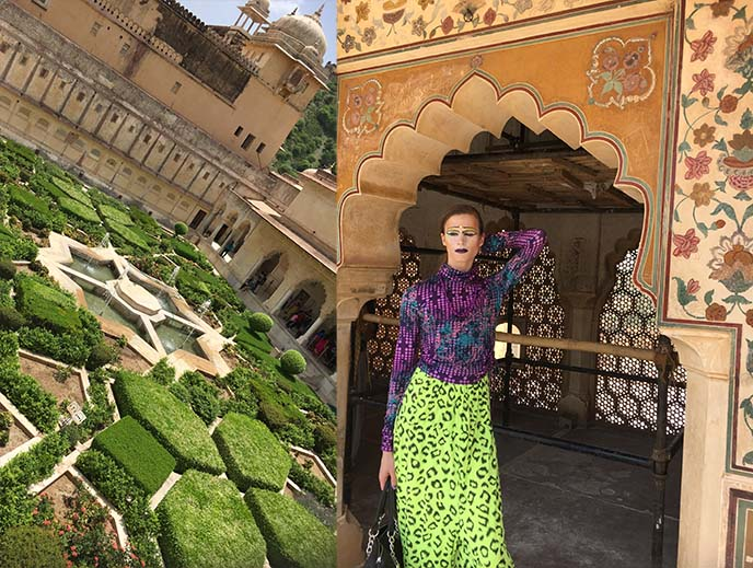 amer fort gardens india
