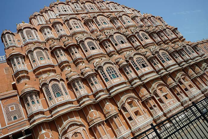 Jaipur building many windows