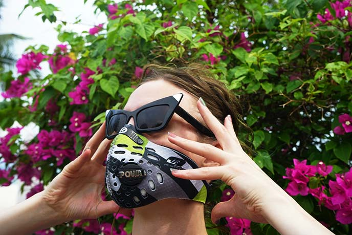 anti pollution masks cyclists