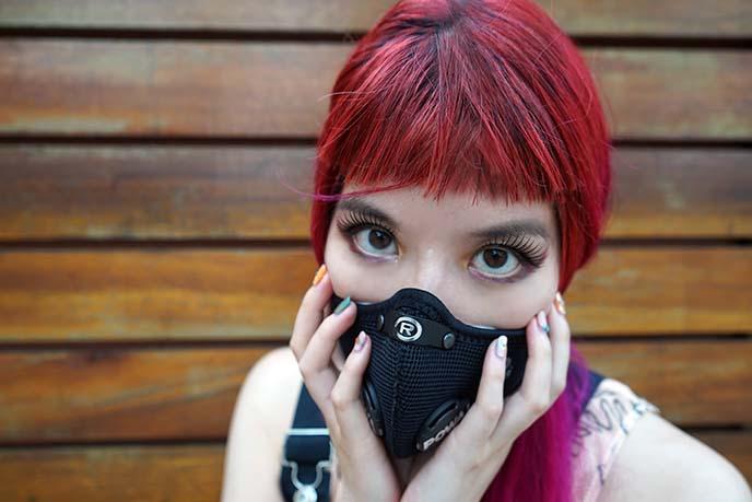 smog pollution mask fashion apocalypse