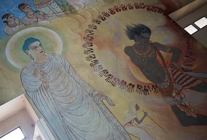 buddha and Angulimala, the Bandit