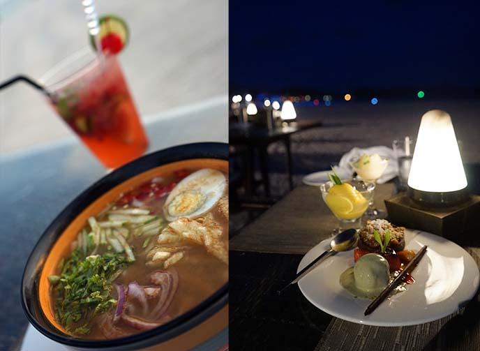casa del mar dinner, food