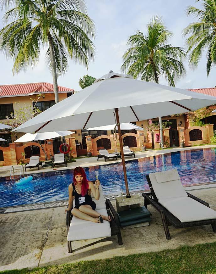 outdoor swimming pool langkawi hotel