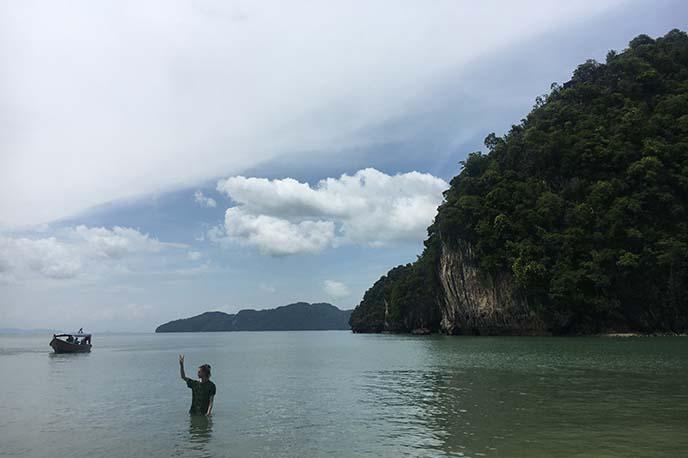 swimming in andaman sea malaysia