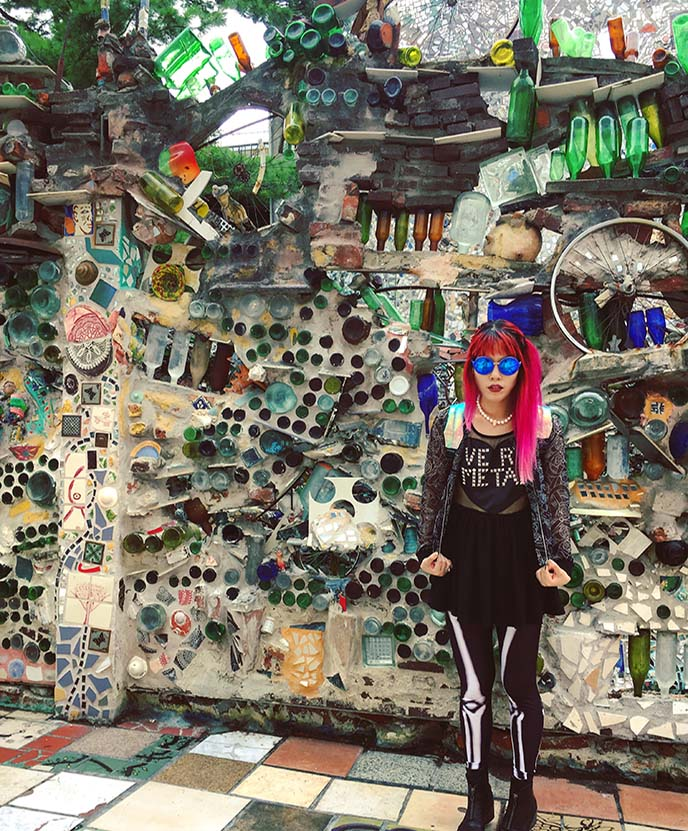 philly magic gardens fashion blogger