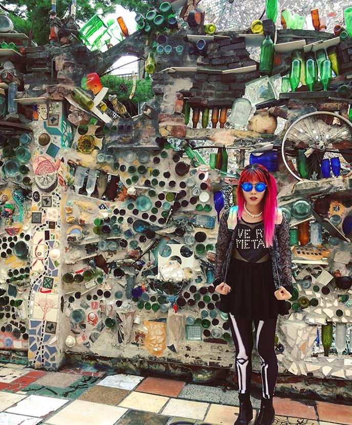 philly magic gardens fashion blogger