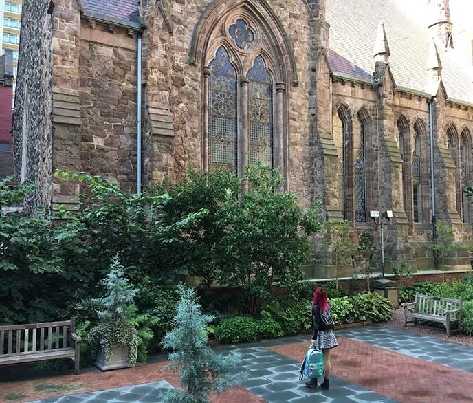 mutter museum garden, philadelphia gardens