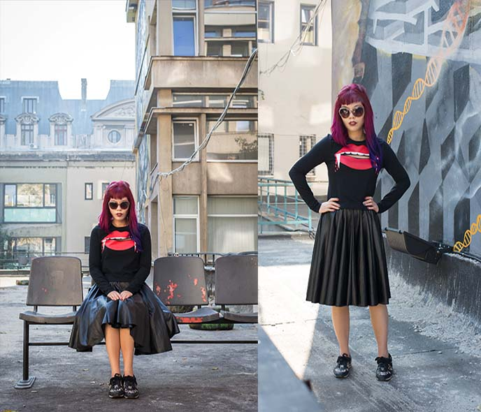 h and m fashion blogger outfit halloween