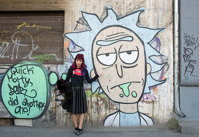 rick sanchez morty murals graffiti