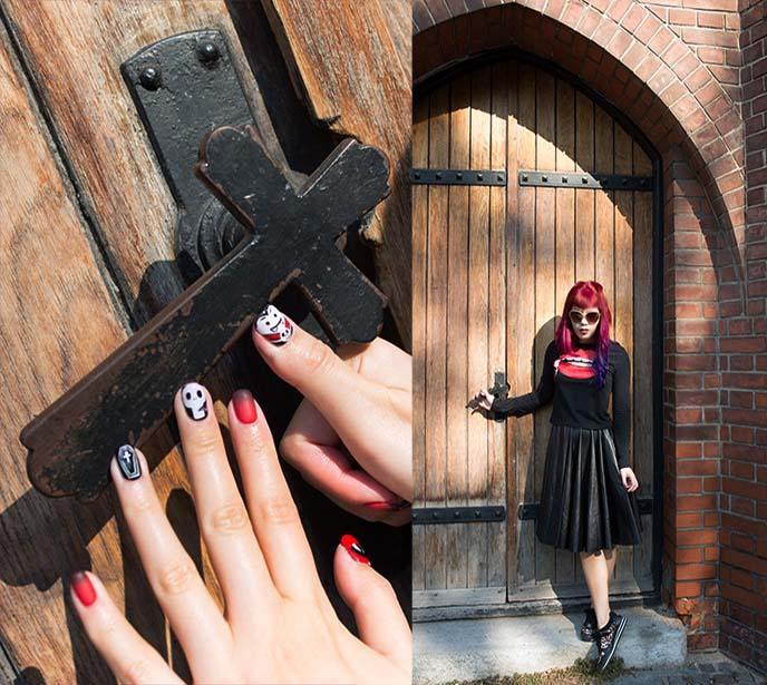 black vampire stake crucifix