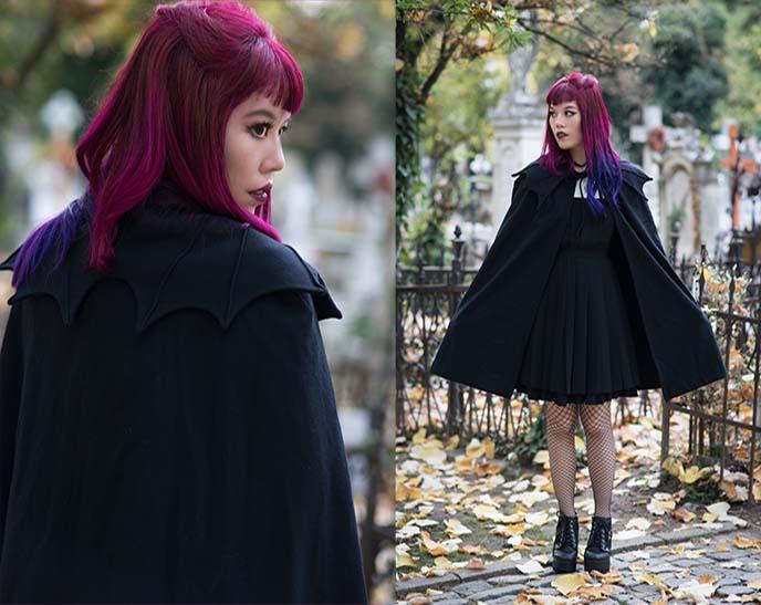 vampire dracula graveyard fashion outfit