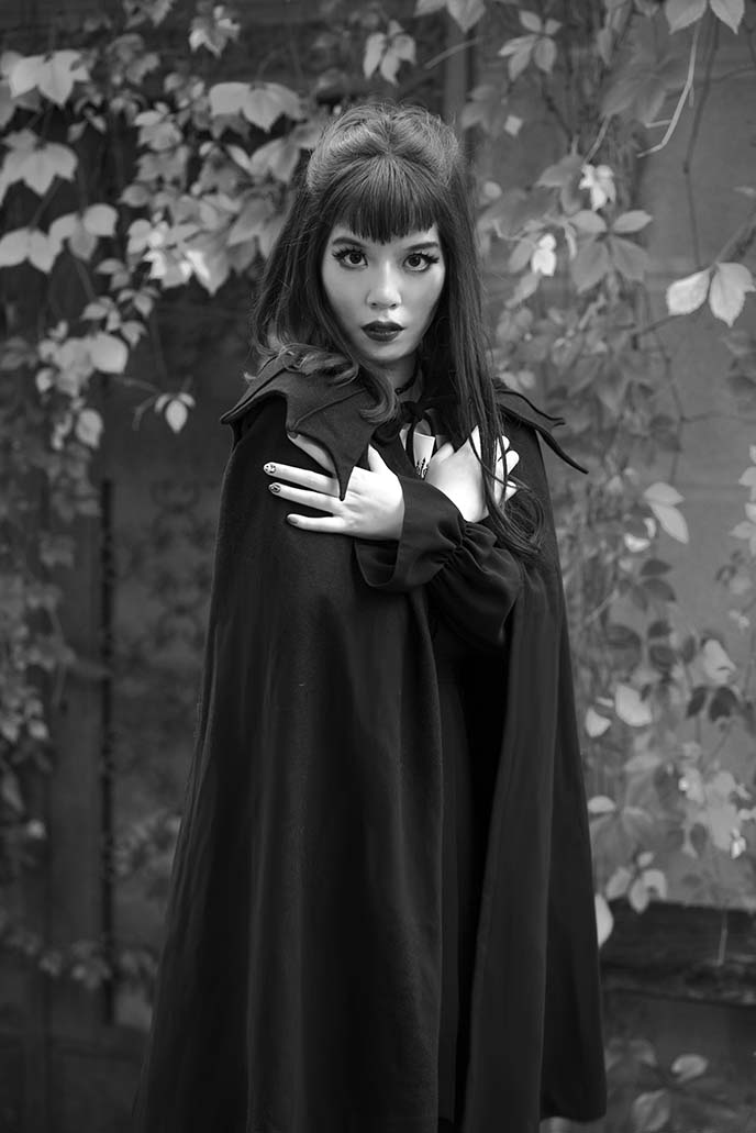 asian vampire japanese girl portrait
