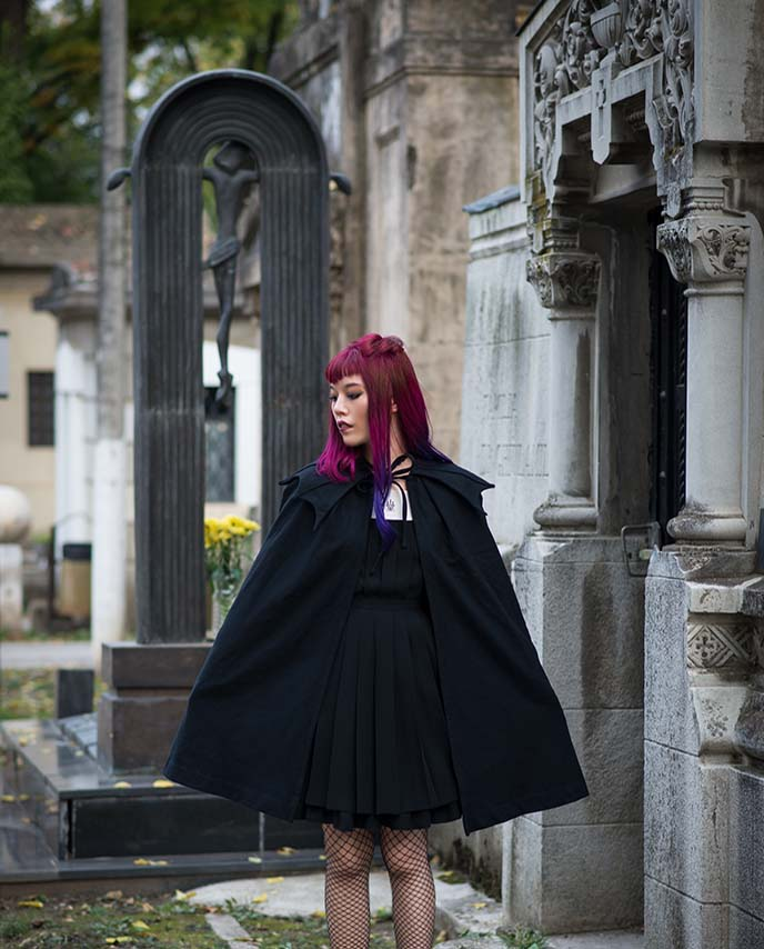 vampire fashion editorial outfit post