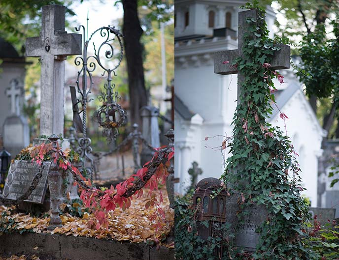 cross tombstones bellu graveyard bucharest
