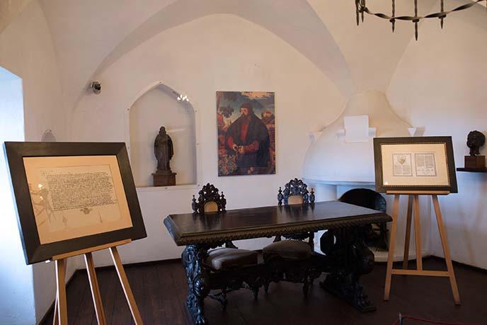 interior historic bran castle