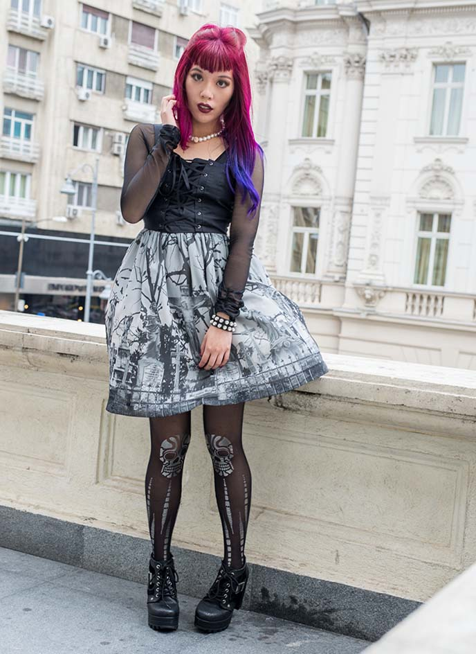 japanese elegant gothic fashion lolita