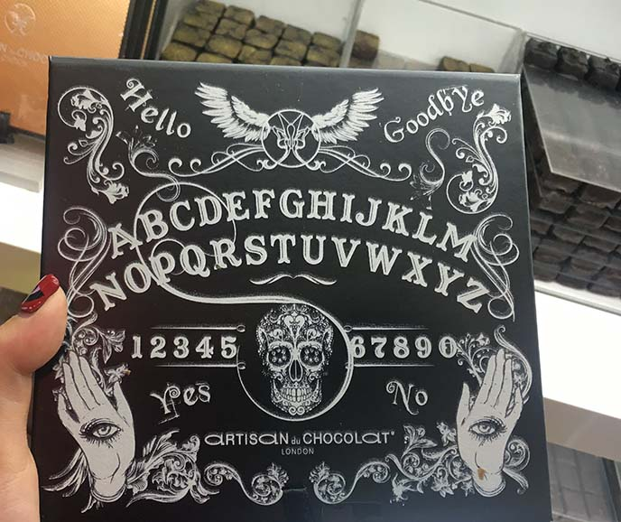 ouija board chocolates chocolate box