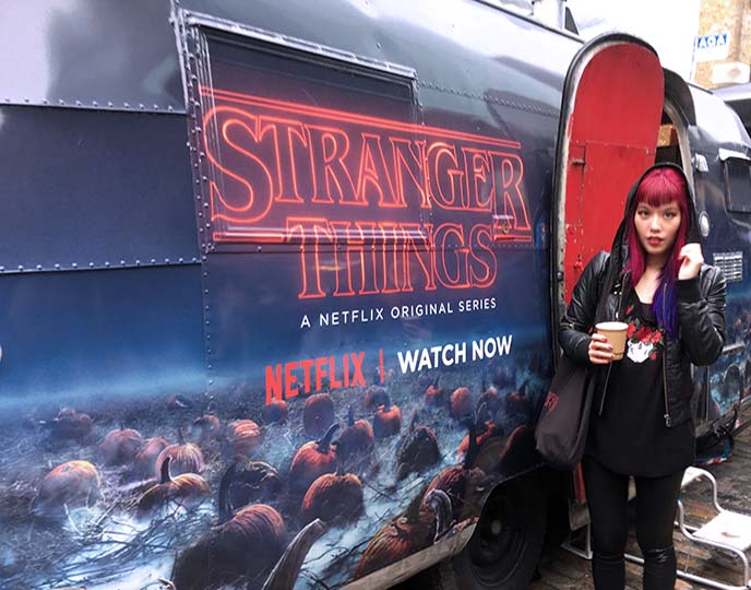 stranger things waffle pop up food truck