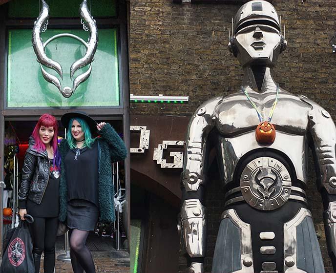 cyberdog robot statue exterior camden