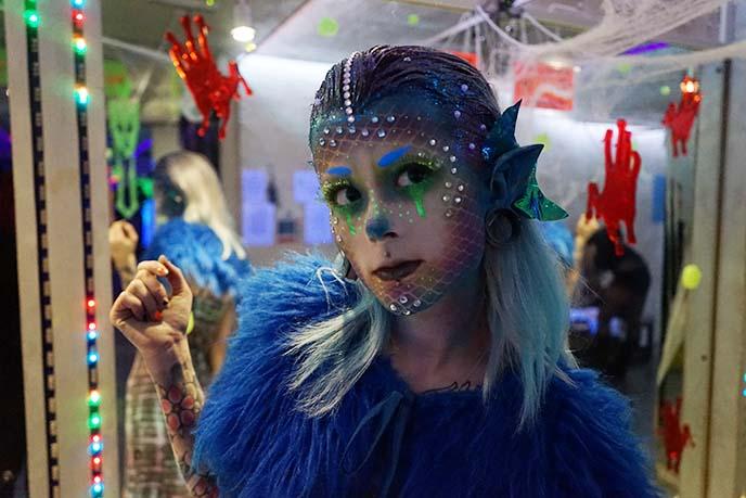 mermaid unicorn glitter makeup