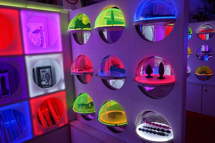 futuristic architecture glowing lights