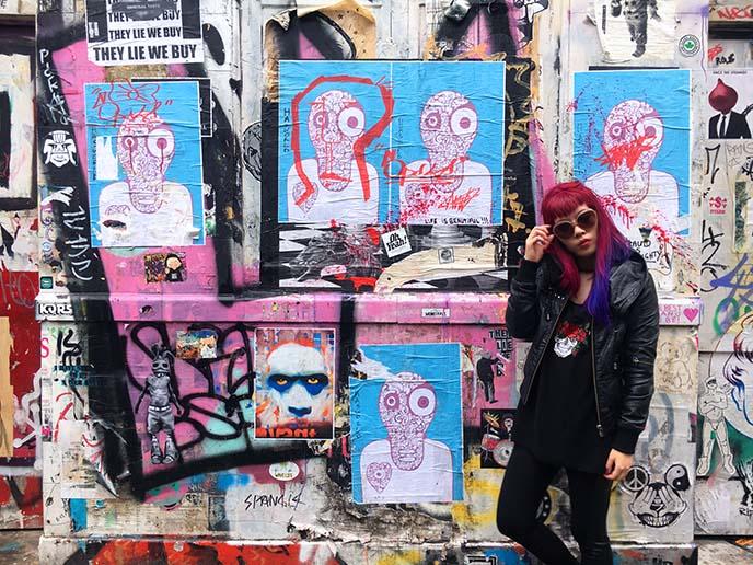 shoreditch hipster district graffiti